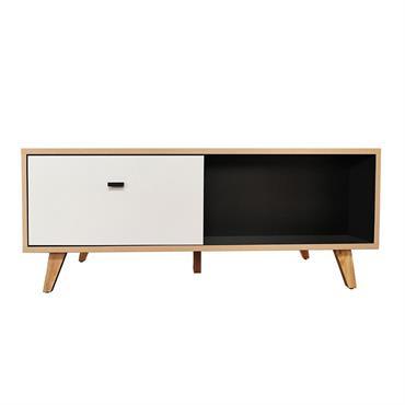Table basse avec tiroir en bois naturel