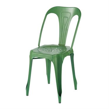 Chaise indus en métal vert Multipl's