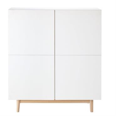 LE BLANC GAGNANT On vous l'annonce de but en blanc : le style nordique n'a pas dit son dernier mot, et le cabinet 2 portes blanc ARTIC en apporte une ...