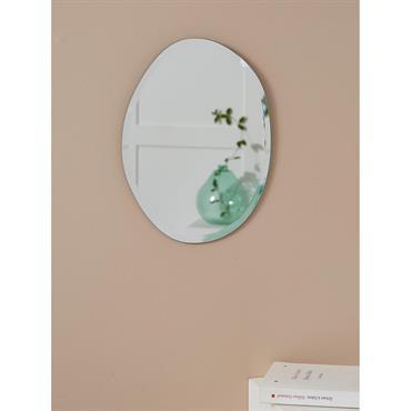 Miroir biseauté ovale transparent