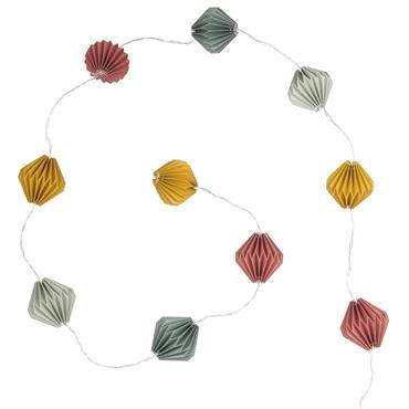 Guirlande lumineuse 10 LED en papier multicolore