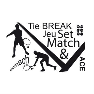Stickers muraux Tennis planche de 115x 72 cm