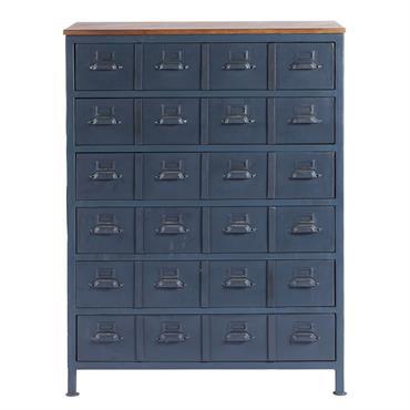 Avec son style plein de cachet et ses multiples tiroirs, le cabinet indus 6 tiroirs en manguier et métal bleu LENNY saura vite se rendre indispensable dans votre intérieur. Tiroirs ...