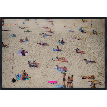 TAMARA BEACH III - Photo encadrée de Cyril Cayssalie 90x60 cm
