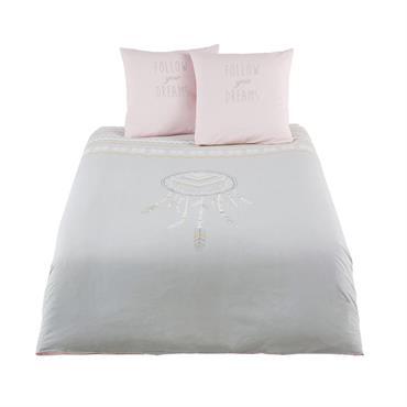 Parure de lit enfant en coton gris 240x220
