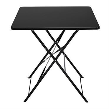 BRILLANCE ET LÉGERETÉ La table pliante en métal noir GUINGUETTE en impose par sa finition brillante et la légèreté de sa structure. GAIN DE PLACE Pratique pour gagner en place ...