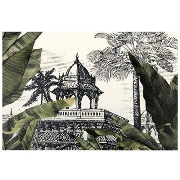 Set de table en vinyle imprimé paysage tropical