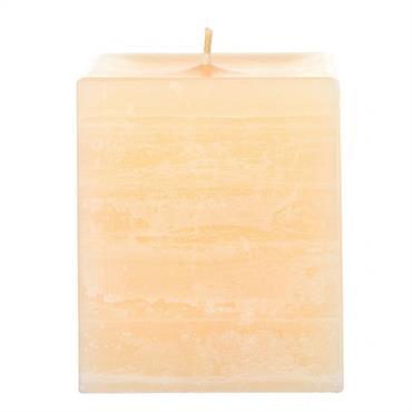 Bougie de cire de parraffine de forme carrée. Une mèche en coton primée donne une flamme de belle qualité, faciile ... Domozoom