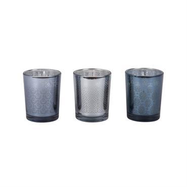 Coffret 3 bougies grises