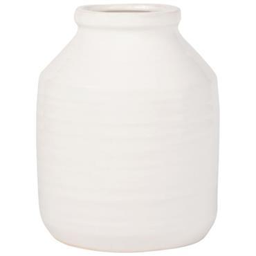 Pot en céramique blanche H21