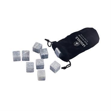 Carafe céramique rayée blanc rayé bleu