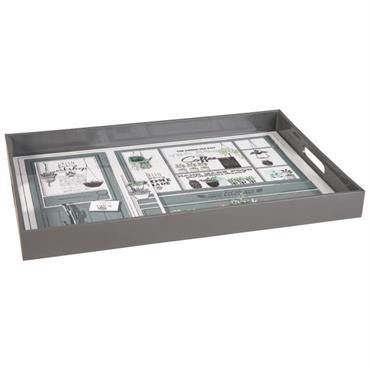 Plateau en plastique imprimé vitrine