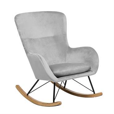 Chaise à bascule style rétro grise. Alliant confort et style, cette chaise à bascule d'inspiration glamour constituera un ajout unique à la décoration de votre maison, qu'elle soit moderne ou ...