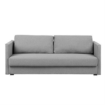 Canapé convertible 3 places en tissu gris clair
