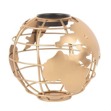 Lumignon globe en métal doré