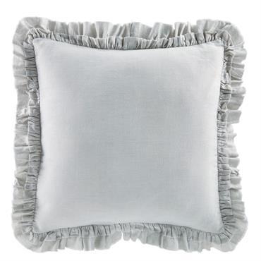 Coussin en lin et coton gris 45x45