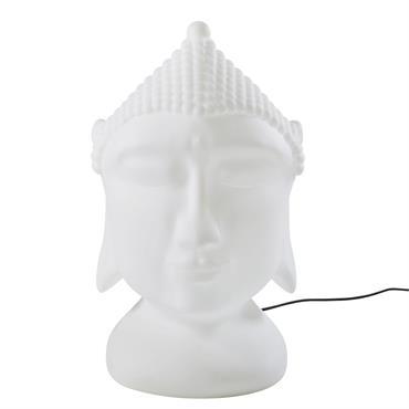 Lampe d'extérieur bouddha blanche