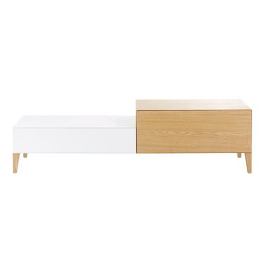 Pour compléter un salon à l'allure contemporaine, rien de tel que le meuble TV 1 porte 1 tiroir CHROMATIK . Très tendance, on craque pour le coloris blanc qui contraste ...