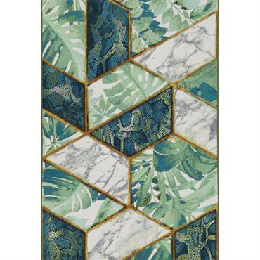 Tapis pour l'intérieur et l'extérieur - vert multicolore 120x180 cm