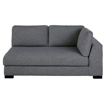 Accoudoir droit de canapé 2 places gris foncé chiné Terence