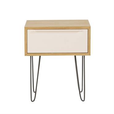 Table de chevet style scandinave 1 tiroir Idylle