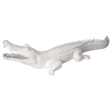 UNE DÉCO EXOTIQUE Transformez votre jardin en un lieu exotique avec cette déco crocodile blanc mat PETER . UNE TOUCHE SURPRENANTE Inattendue, cette statue apportera une touche à la fois ...