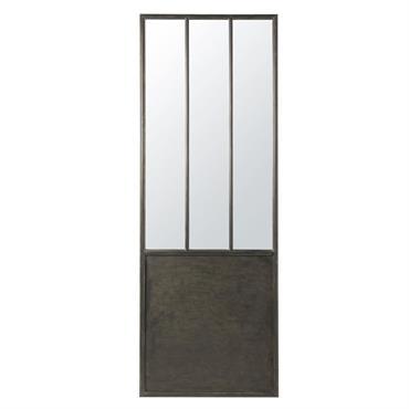 Miroir en métal noir 67x190