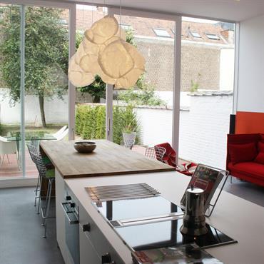 Réaménagement complet d'une maison à Bruxelles.  Domozoom