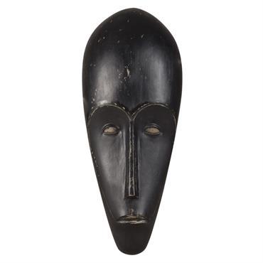 Déco murale masque africain noire 25x60