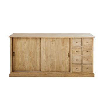 Comptoir 2 portes 8 tiroirs en manguier massif Cezanne