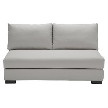 Chauffeuse de canapé 2 places en coton gris clair Terence
