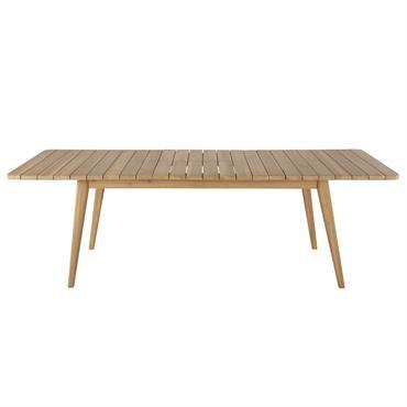 Table de jardin extensible en acacia massif 8/10 personnes L180/240 Garda