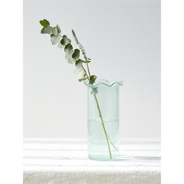 Vase à collerette transparent coloré vert