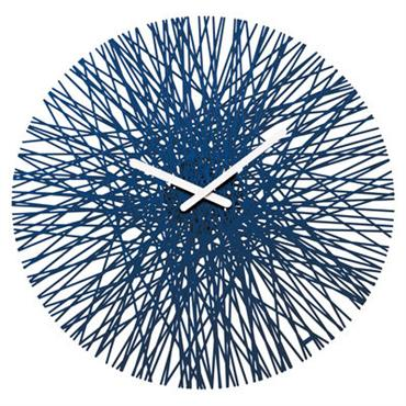 Horloge murale Silk - Koziol bleu marine en matière plastique