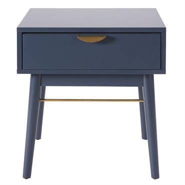 Table de chevet 1 tiroir bleu foncé Penelope