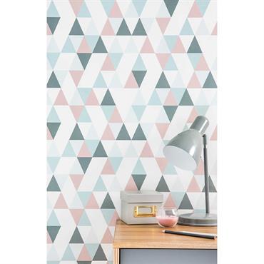 Papier peint intissé motifs triangles H 10