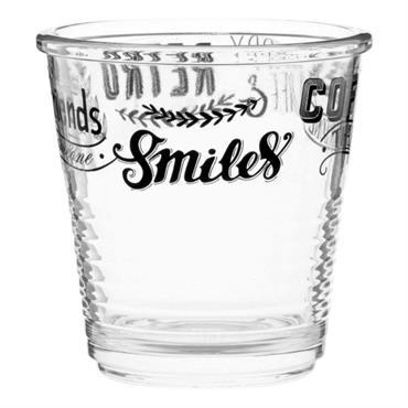 Verre à café en verre imprimé