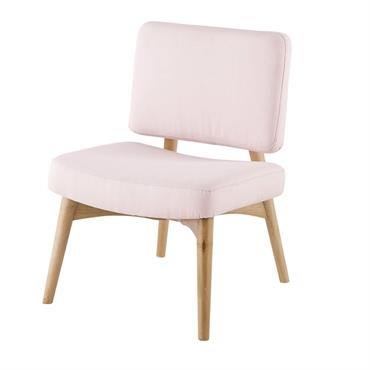 Fauteuil vintage rose en pin Sunset