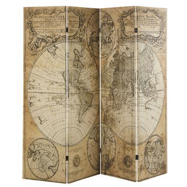 Paravent imprimé carte ancienne