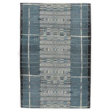 Tapis d'extérieur et intérieur durable bleu 60x100 cm