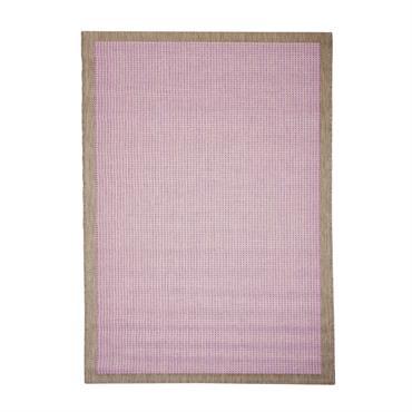 Tapis uni contemporaine en polypropylène violet 135x190