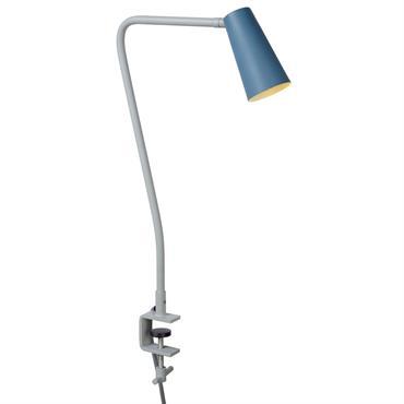 Lampe de bureau en métal bleu