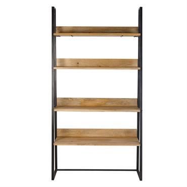 Avec sa structure en métal noir et ses étagères en manguier, l' étagère TV indus MANUFACTURE prouve que le style indus n'a pas pris une ride. Chaleureux et tendance, ce ...