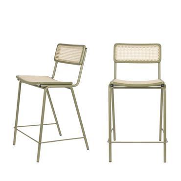 De belles assisses pour aller avec votre table à manger ou votre comptoir, c'est Jort ! Avec ce lot de 2 tabourets de bar contemporain en cannage 66 cm, les ...