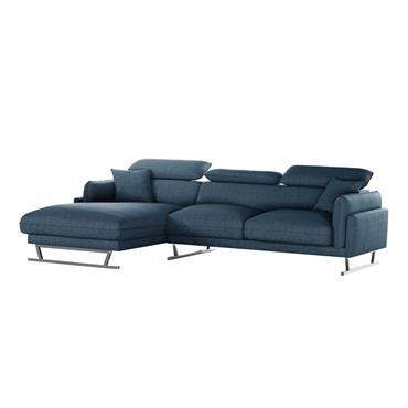 Le canapé d'angle GIGI vous charmera par son originalité et sa ligne harmonieuse. Ses appuis-tête amovibles vous apporteront le confort sur mesure dont vous avez toujours rêvé. Son revêtement toucher ...