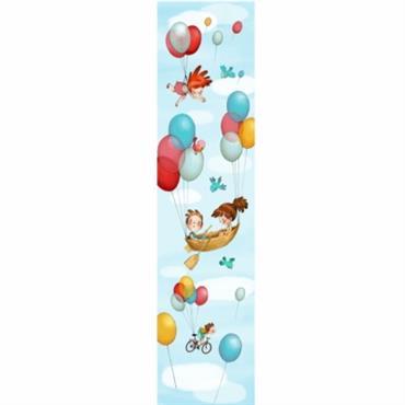Le papier peint Dans les airs en textile (sans pvc) est idéale pour décorer un mur, peut-être complété par une planche de stickers du même thème. Acte Déco est heureux ...