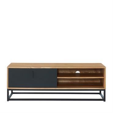 Meuble TV en métal et bois clair