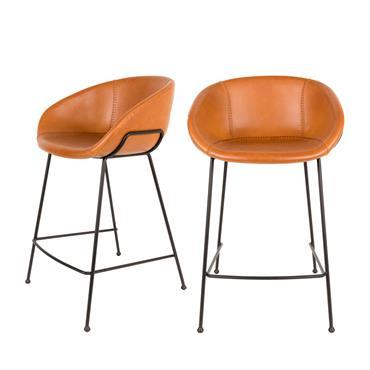 Simple et stylé, cetabouret de bar 65 cm Feston Zuiver ira harmonieusement avec tous les styles d'intérieurs modernes. Il se compose d'une assise qui épouse la forme de votre corps ...