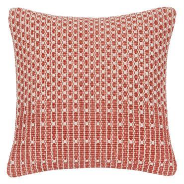 Housse de coussin en coton rouge et écru à motifs 40x40
