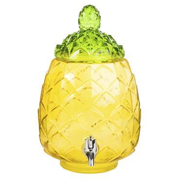 Fontaine à boisson ananas en verre teinté